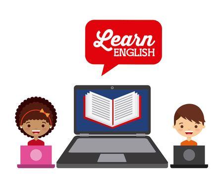 apprendre la conception anglais, illustration graphique eps10