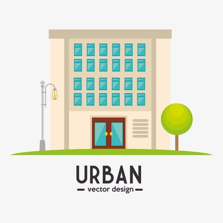 edifice: Urban buildings graphic design, vector illustration eps10