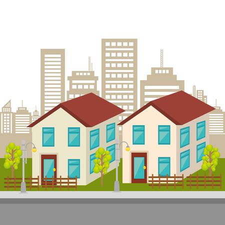 urbanization: Urban buildings graphic design, vector illustration eps10