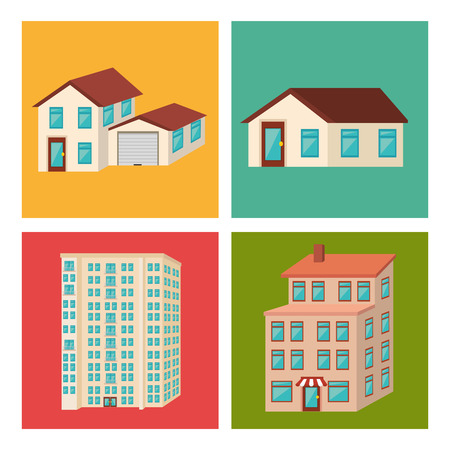 urbanization: Urban buildings graphic design, vector illustration eps10