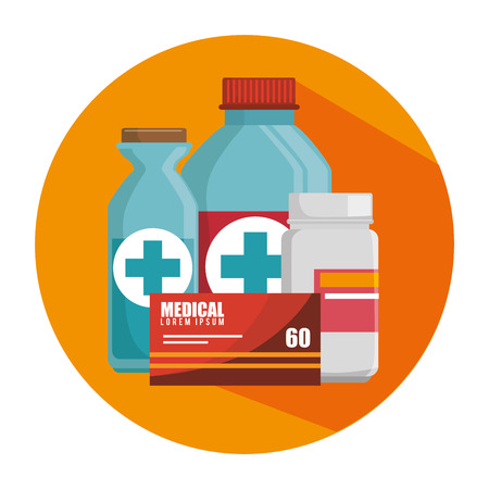 diagnosis: Medical healthcare graphic design, vector illustration eps10 Illustration