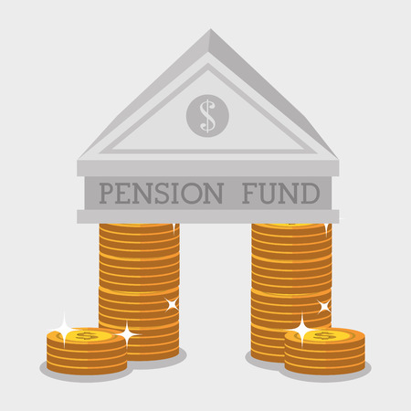 pension fund: Money pension fund graphic design, vector illustration