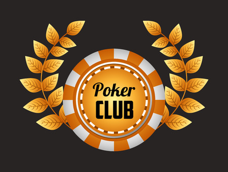 gold leafs: casino club design, vector illustration eps10 graphic