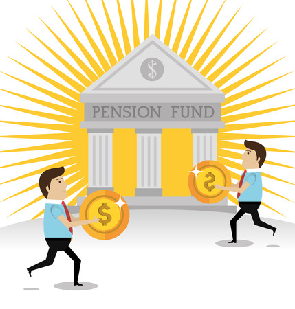 future earnings: Money pension fund graphic design, vector illustration