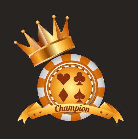 gold record: casino club design, vector illustration eps10 graphic