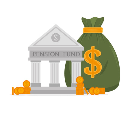 pension: Money pension fund graphic design, vector illustration