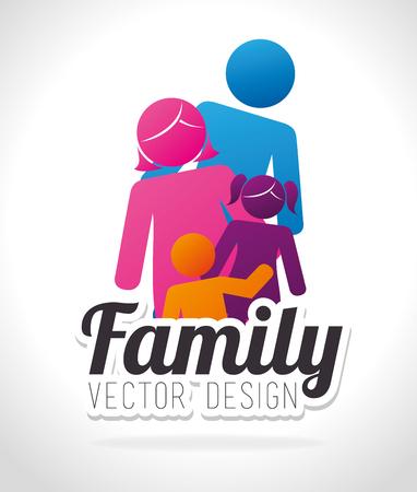 family unity: Family unity graphic design, vector illustration eps10