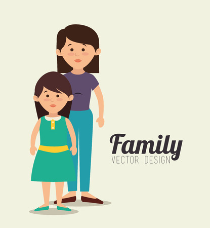 daugther: Family unity graphic design, vector illustration eps10