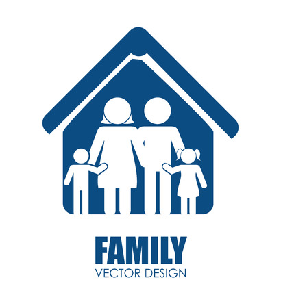 roof profile: Family unity graphic design, vector illustration eps10