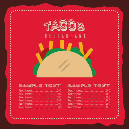 mexican background: mexican food design, vector illustration eps10 graphic
