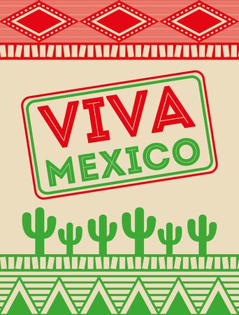 Viva Mexico disegno, illustrazione grafica vettoriale eps10