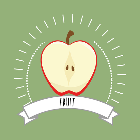 foodstuff: Healthy and natural food graphic design, vector illustration eps10 Illustration
