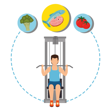 ifestyle: Fitness and healthy food lifestyle graphic design, vector illustration  Illustration