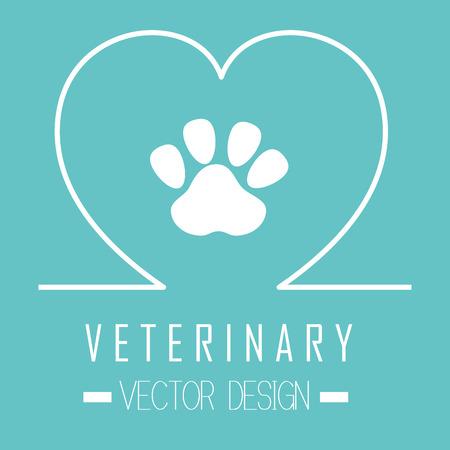 veterinaria: Cuidado de la salud clínica veterinaria de diseño gráfico, ilustración vectorial