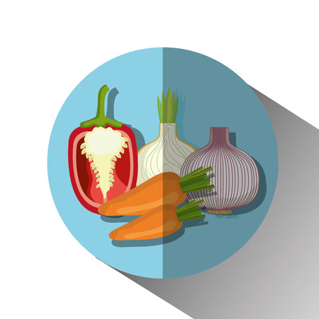 foodstuff: Healthy food vegetables graphic design, vector illustration  Illustration