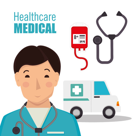 diagnosis: Medical healthcare graphic design, vector illustration
