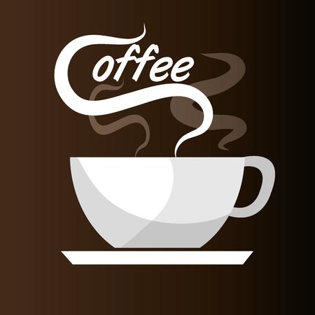 drink coffee: Delicious coffee drink graphic design, vector illustration Illustration