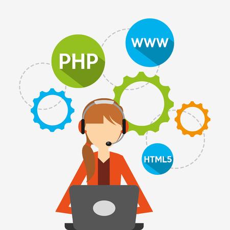 programing: programing language design, vector illustration eps10 graphic