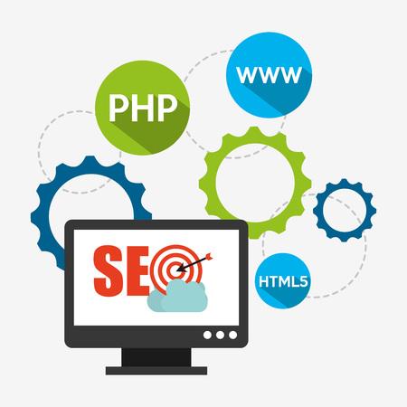 web services: seo concept design, vector illustration eps10 graphic
