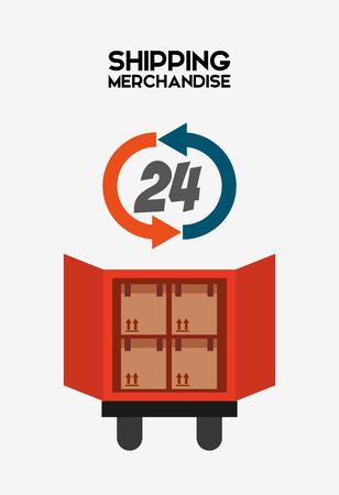 merchandise: shipping logistics of merchandise design, vector illustration eps10 graphic Illustration