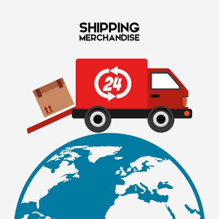 merchandise: shipping logistics of merchandise design, vector illustration eps10 graphic Illustration