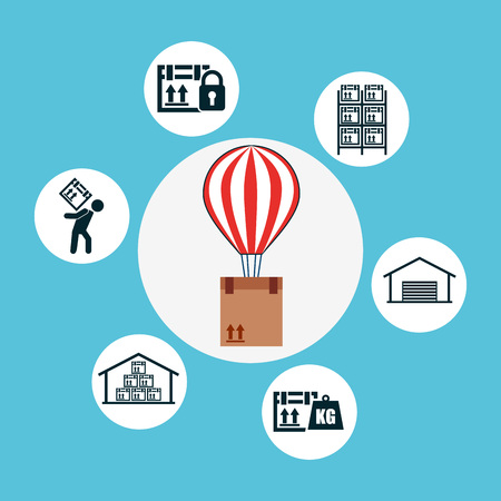 shipping logistics of merchandise design, vector illustration eps10 graphic
