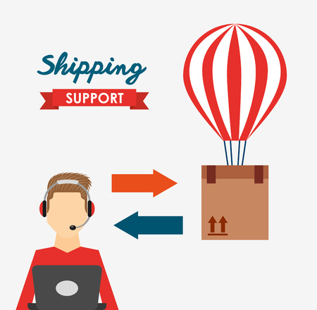 shipping logistics of merchandise design, vector illustration eps10 graphic Illustration