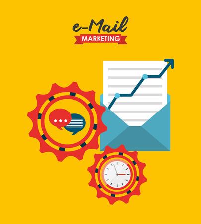 diseño de marketing ejemplo gráfico del vector eps10 correo electrónico,