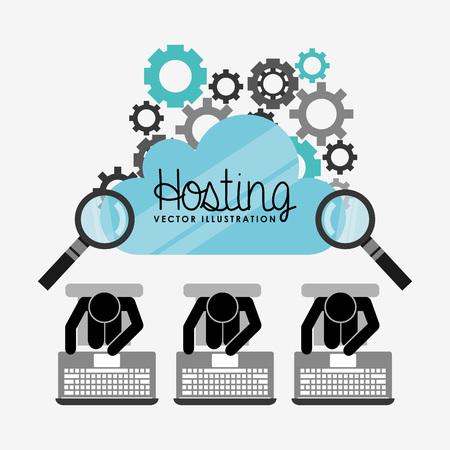 web hosting design, vector illustration eps10 graphic Illustration