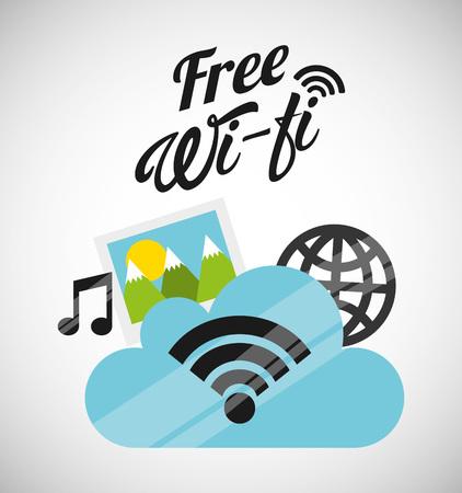 wifi: free wifi design, vector illustration eps10 graphic Illustration