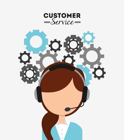 customer service design, vector illustration eps10 graphic Иллюстрация