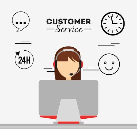 diseño de servicio al cliente, ejemplo gráfico del vector eps10 Ilustración de vector