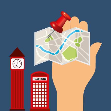 Concepto de diseño de viajes, ilustración vectorial eps10 graphic