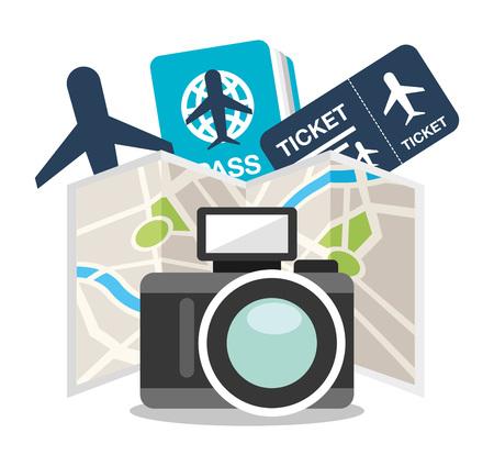 concepto de diseño de viajes, ejemplo gráfico del vector eps10