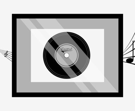 gold record: music award design, vector illustration eps10 graphic