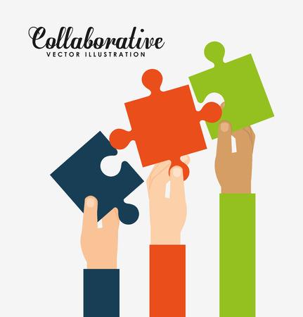 kollaboratives Konzept-Design, Vektor-Illustration eps10 Grafik