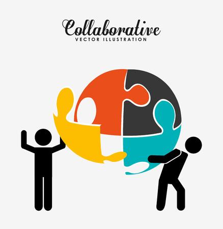 silhoutte: collaborative concept design, vector illustration eps10 graphic Illustration