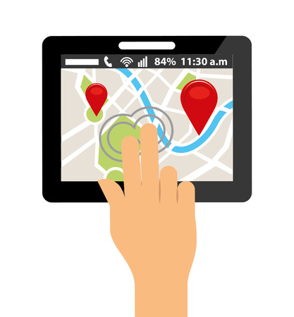 electronic guide: gps service design, vector illustration eps10 graphic