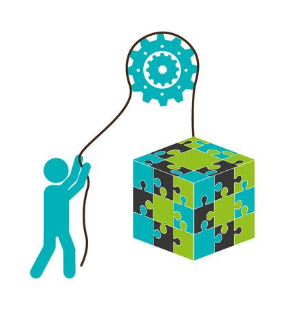 business roles: collaborative concept design, vector illustration eps10 graphic Illustration