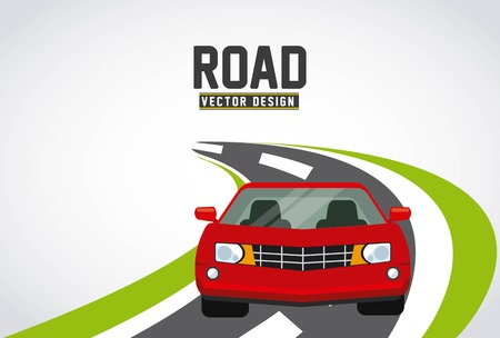 driveway: road concept design, vector illustration eps10 graphic