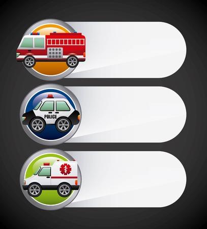 highway patrol: road concept design, vector illustration eps10 graphic