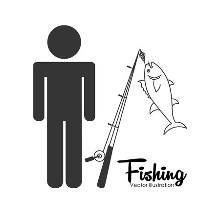 rob: fishing tournament design, vector illustration eps10 graphic