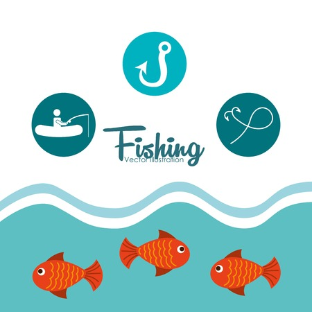 fresh seafood: fishing tournament design, vector illustration eps10 graphic