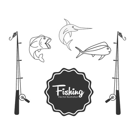fish type: fishing tournament design, vector illustration eps10 graphic