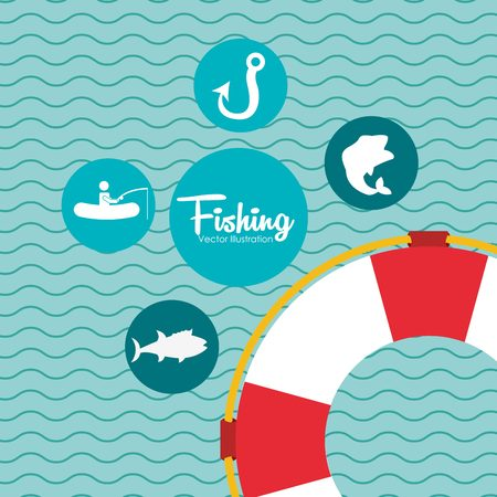 fish type: fishing tournament design, vector illustration eps10 graphic