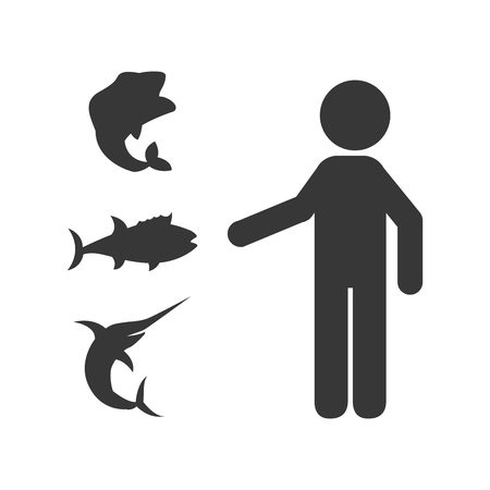 fish type: fish concept design, vector illustration eps10 graphic