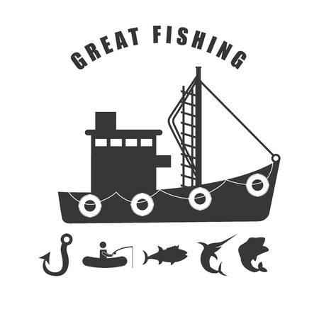 fishing boats: fishing tournament design, vector illustration eps10 graphic