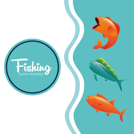 ocean fishing: fishing tournament design, vector illustration eps10 graphic