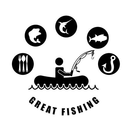 fishing tournament design, vector illustration eps10 graphic