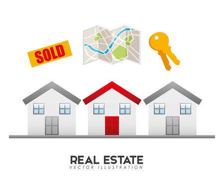 protected: real estate design, vector illustration eps10 graphic Illustration